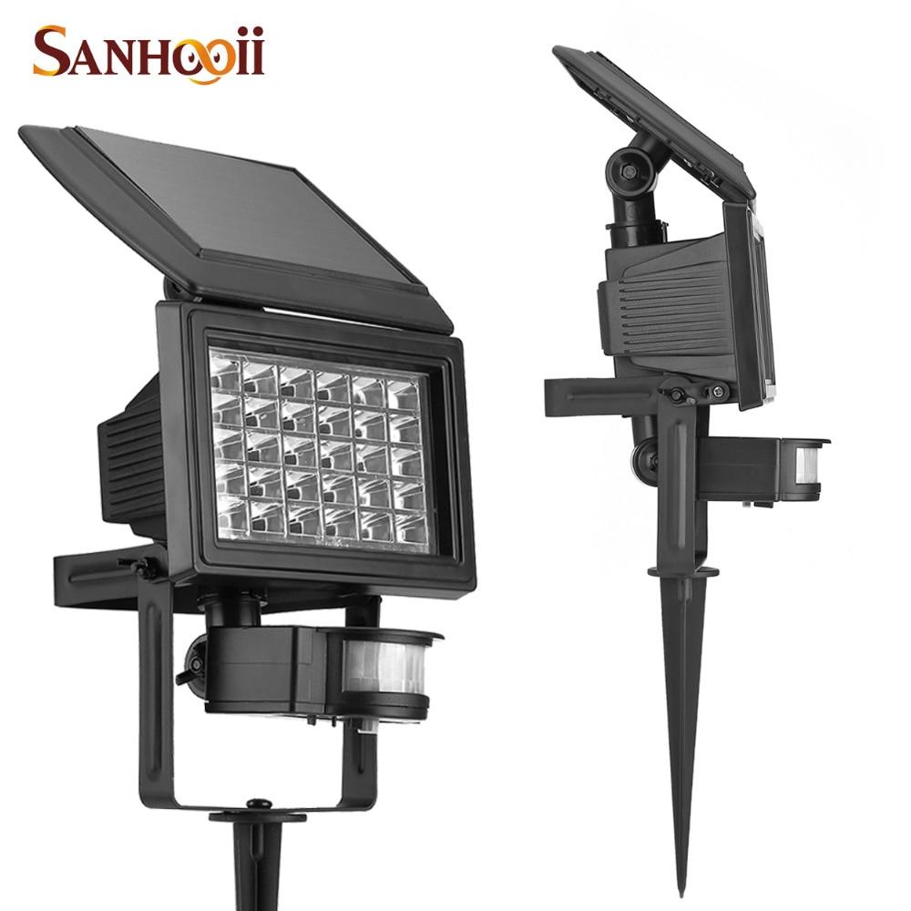 ФОТО Bright Solar Power IP65 Waterproof 200LM 30 LED Outdoor Spike Lawn Lamp Door Path Garden Yard Wall Flood Light PIR Motion Sensor