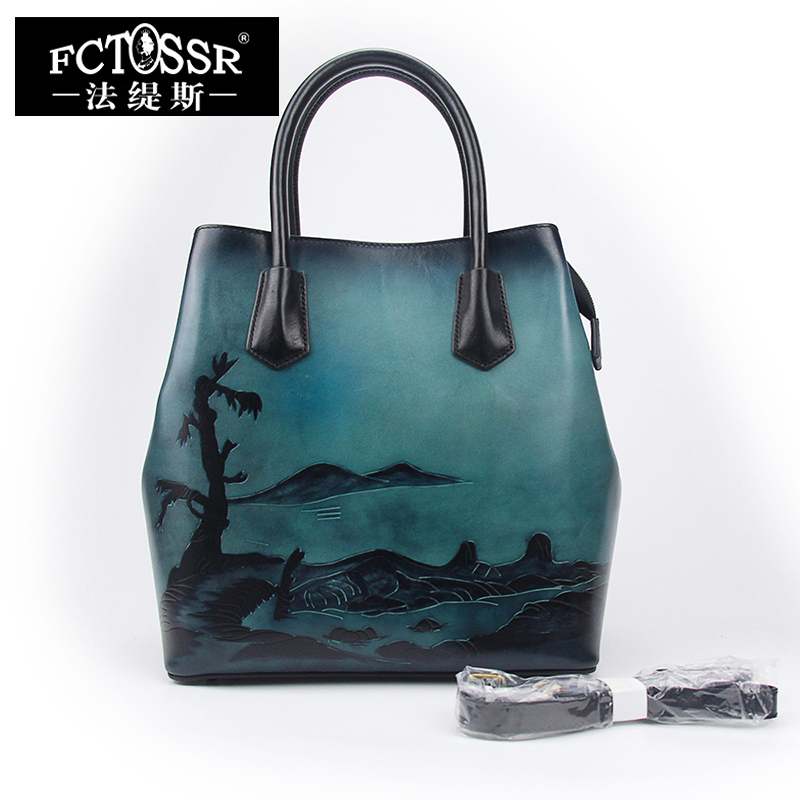 Large Tote Bags for Women Shoulder Handbags 2018 Vintage Handmade Cow Leather Sell Bags Ladies Hand Bag large leather vintage tote bags women