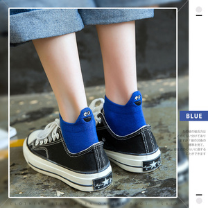 Image 5 - Size 35 42 Kawaii Women Socks Happy Fashion Ankle Funny Socks Women Cotton Embroidered Expression Candy Color 1 Pair