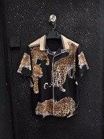 WLD06274BH модные Для мужчин рубашки 2018 Новое поступление Европа Стиль взлетно посадочной полосы модельер Коллекции вечерние Стиль Мужская оде