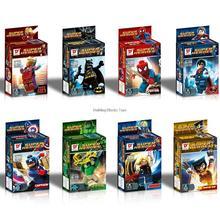 D818 480pcs Super Heroes The Avengers Action Figures Iron Man Spider Man Superman Batman Captain America hulk Toy original box
