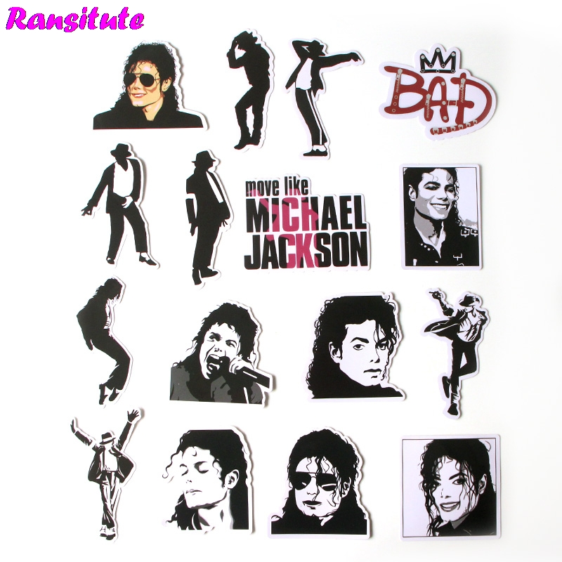 16 Teile/satz Michael Jackson Gemischt Aufkleber Laptop Skateboard Gepäck Bike Fahrrad Jdm Doodle Applique Kühle Wasserdichte Aufkleber R376 Exquisite Handwerkskunst;