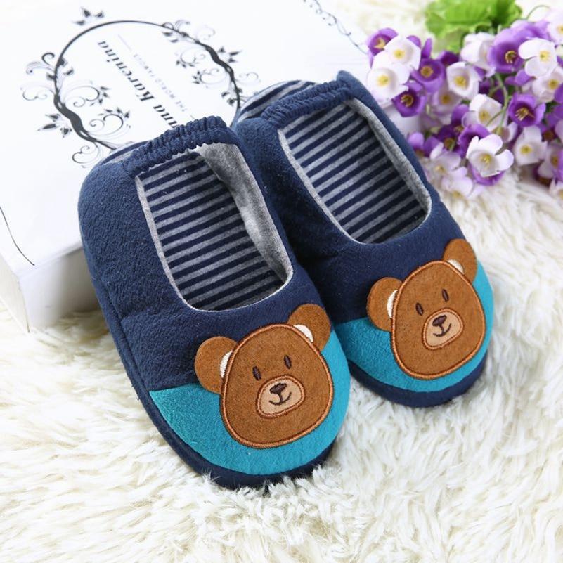 799de90ac923b Enfant en bas âge bébé pantoufles enfants chaussures pour garçons mignon  dessin animé ours intérieur Rubble Sole maison décontracté jardin maison ...