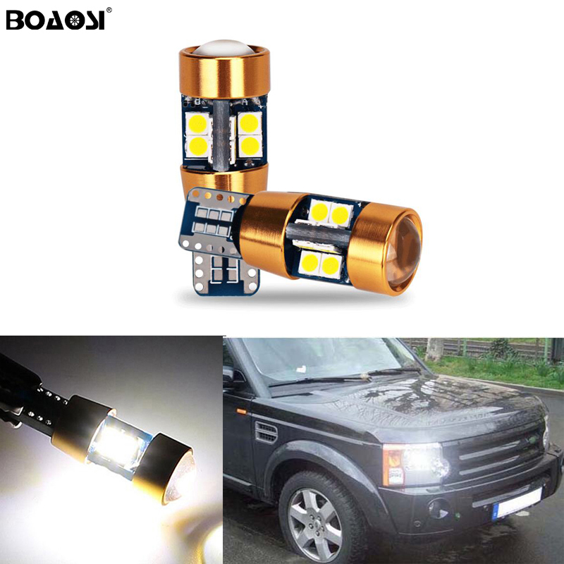 2X New Car LED T10 Canbus W5W No error Wedge Light For Land Rover v8 discovery 4 2 3 x8 freelander 2 defender A8 a9