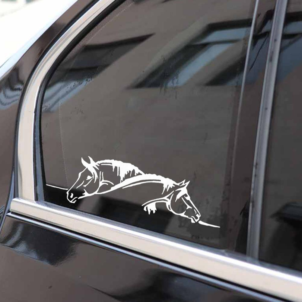 Image 3 - Car Sticker Waterproof sticker Suitable for all cars Creative Two Horses Graphic Car Sticker And Funny Animal Decal Car Style-in Car Stickers from Automobiles & Motorcycles