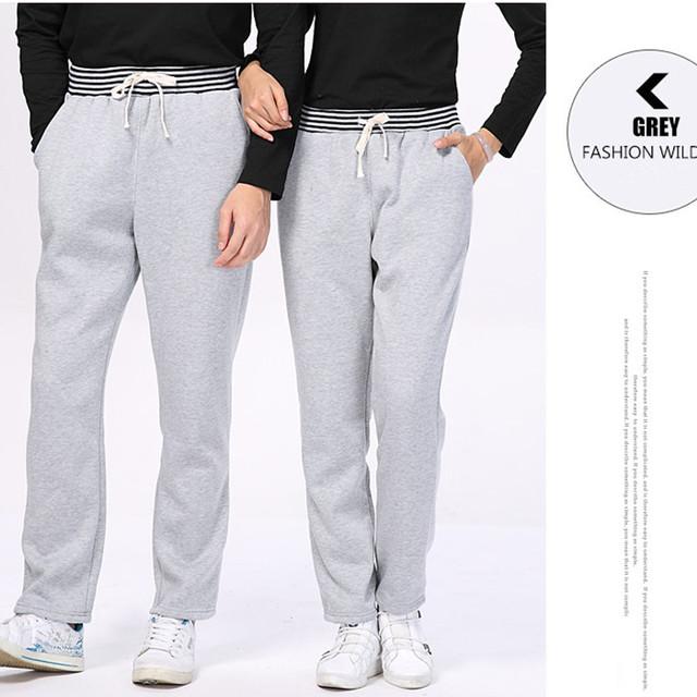 2016 Otoño Y El Invierno de Pantalones Para Hombre Unisex Colores Sólidos Elásticos Cintura de Lana Ocasional Pantalones Deportivos Pantalones Hombres Ropa AMP155001