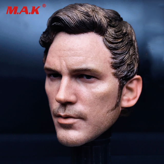 """1/6 scale the Avengers star lord 2.0 Chris Pratt head sculpt male man head carving fit for 12"""" male action figure body accessory"""