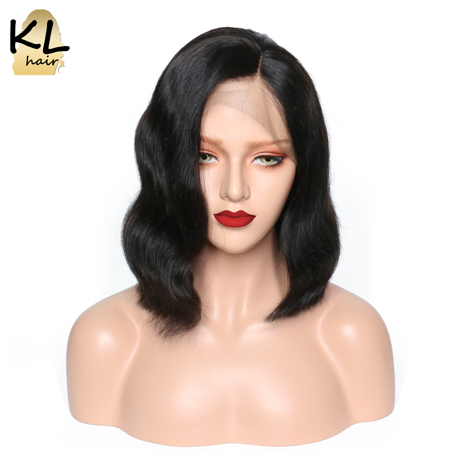 Pre Plucked Lace Front Human Hair Wigs With Baby Hair Glueless Brazilian Wavy Remy Hair Short