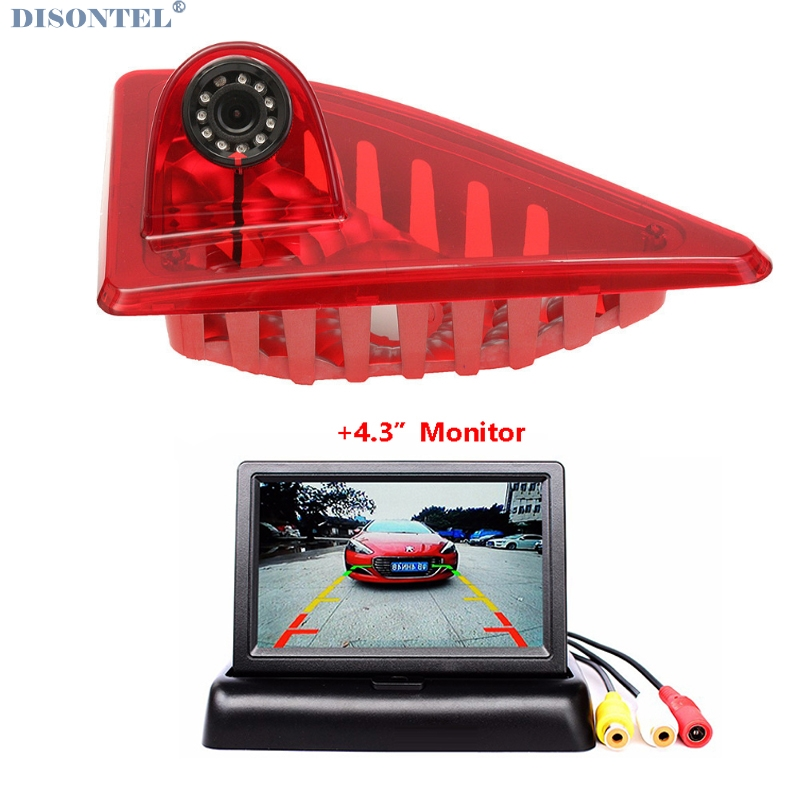 HD Car Brake Light Rear View Camera For Renault/Master With Built-in 10pcs IR Led Light 12V With 4.3