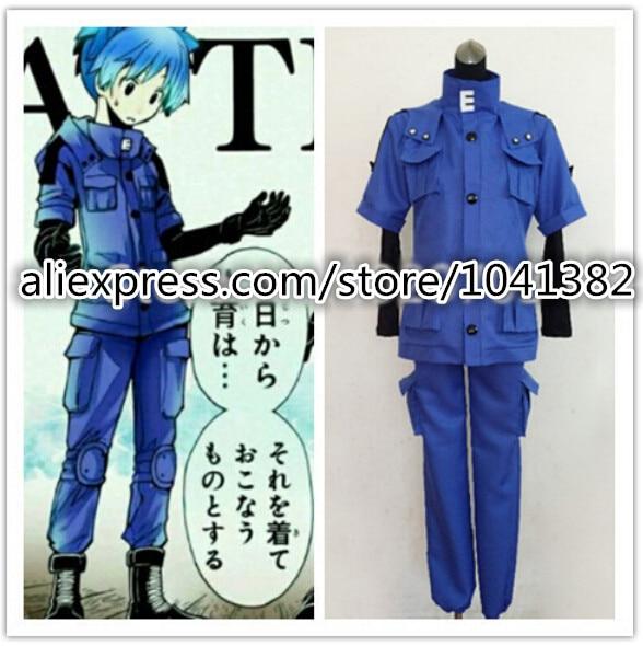 New Arrival Assassination Classroom Shiota Nagisa blue cosplay costume