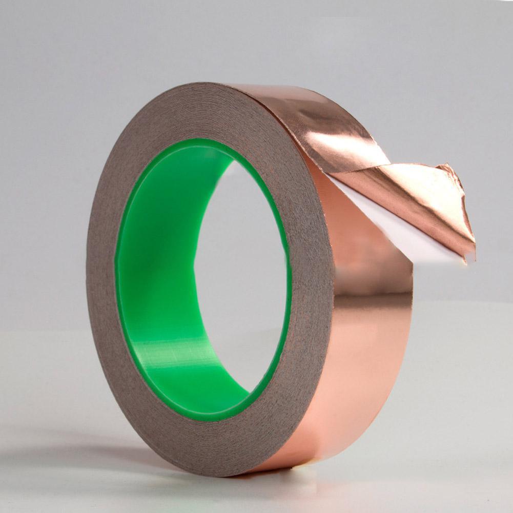 Wide20m Long Double Guide Copper Foil Tape  Conductive Adhesive For EMI Shielding Slug Repellent Paper Circuits Electrical
