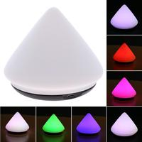 Silicone Pyramid Shape Colorful Adjustable RGB LED Light Desk Mount Light LED Caring Relax Night Light