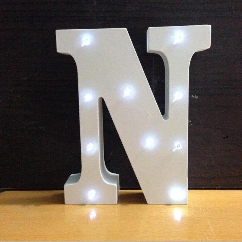 Luzes da Noite madeira letra luz led novidade Tipo : Night Lights