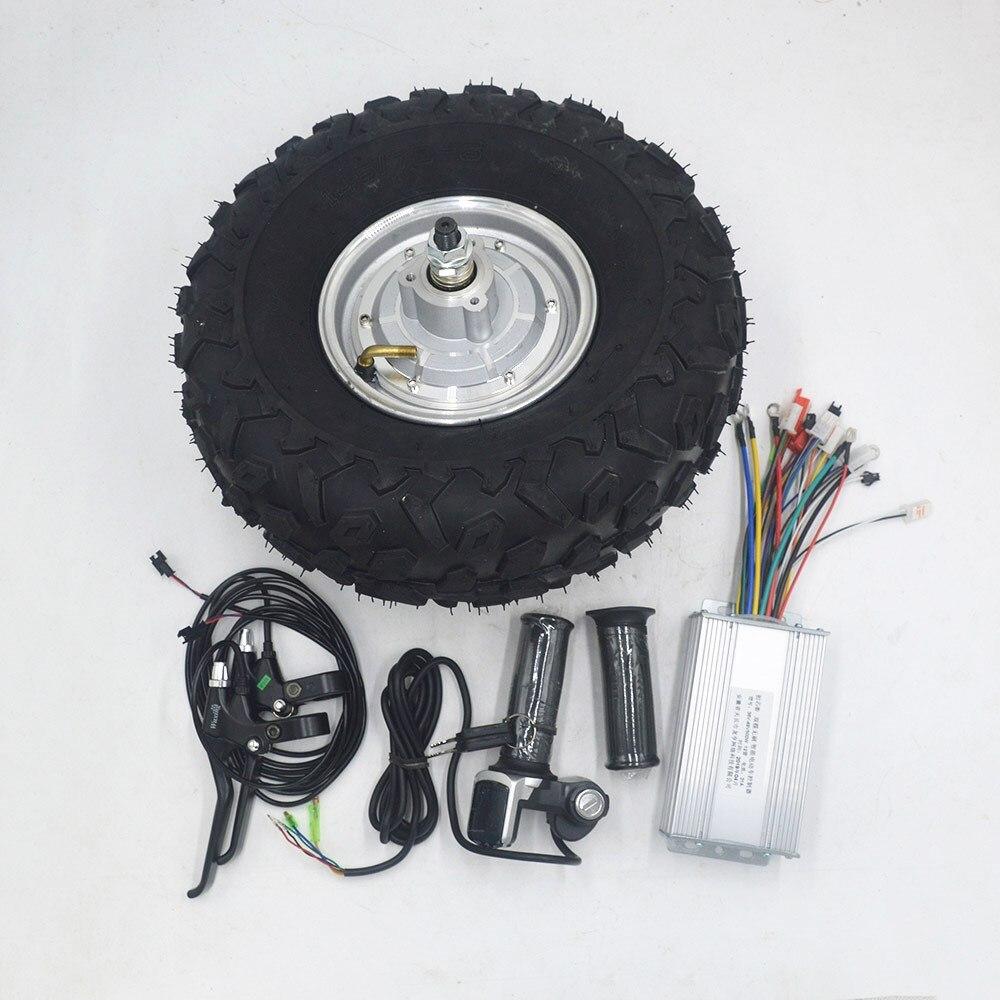 24 V 36 V 48 V 350 W 500 W brouette électrique motoréducteur tout Terrain brouette électrique kit hors route pneu rugueux 14.5 pouces roue