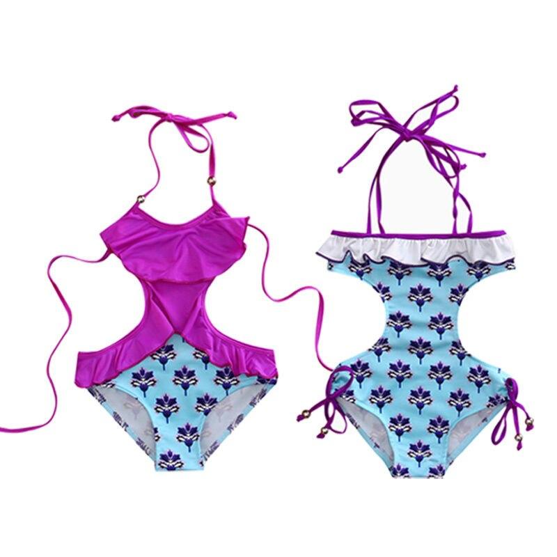 Summer Kids Swimwear Baby Girls Bikini Set Floral swimwears swimsuit Monokini Bathing Suit