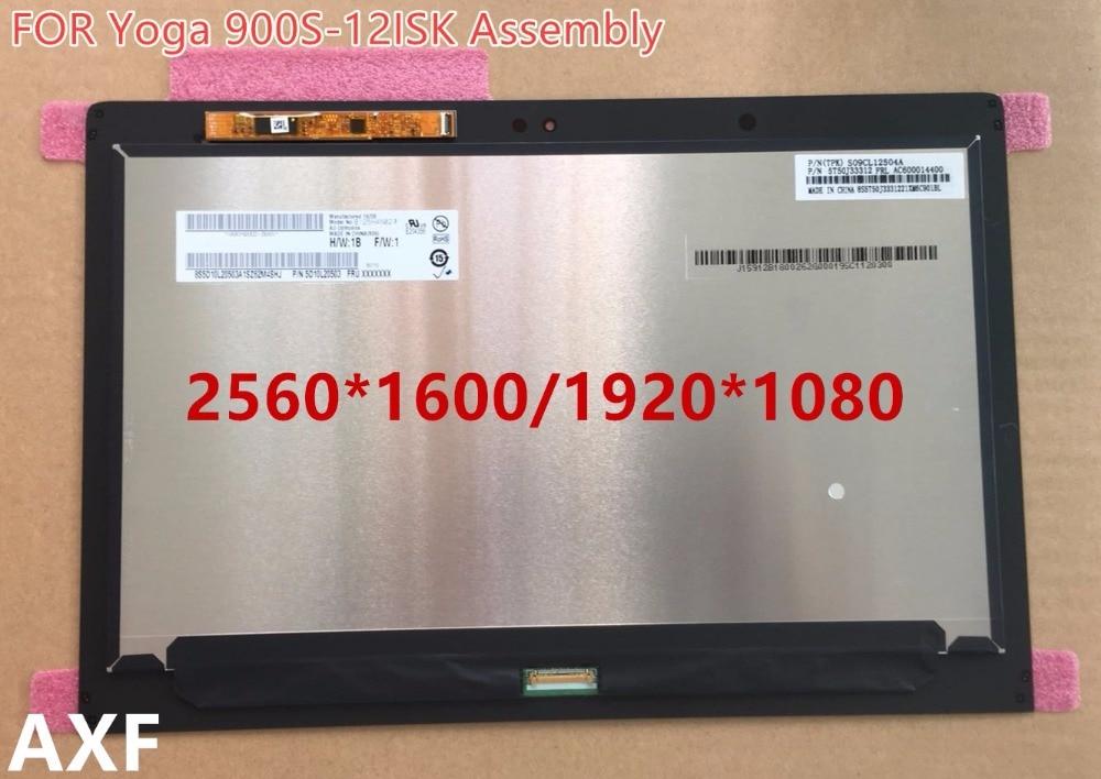 Véritable 12.5 LCD Full Affichage à L'écran Tactile Digitizer Assemblée De Yoga 900 s 2560*1600 Pour Le Yoga 900S-12ISK