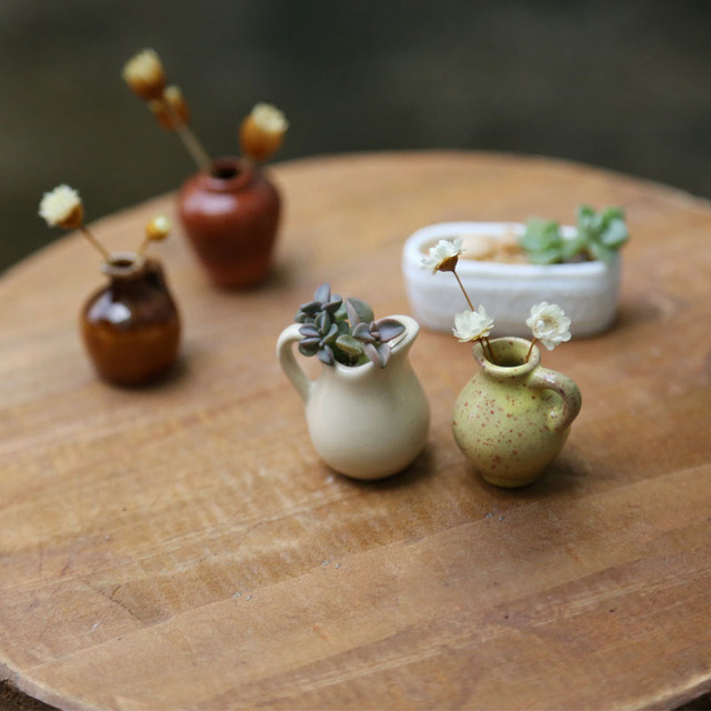 Aliexpress Buy Miniature Vase Mini Flower Pot Craft Micro