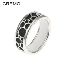 Cremo Band Rings For Women 7mm Wide Copper Knuckle Ring Interchangeable PU Leather Hollow Hippie Dainty Girl friend ring