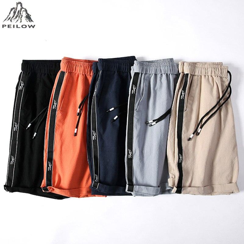 2019 Neue Qualität Leinen Baumwolle Casual Shorts Männer Cargo-shorts Sommer Casual Boardshort Mens Pure Colour Sportwear Kurze Baby Bettwäsche