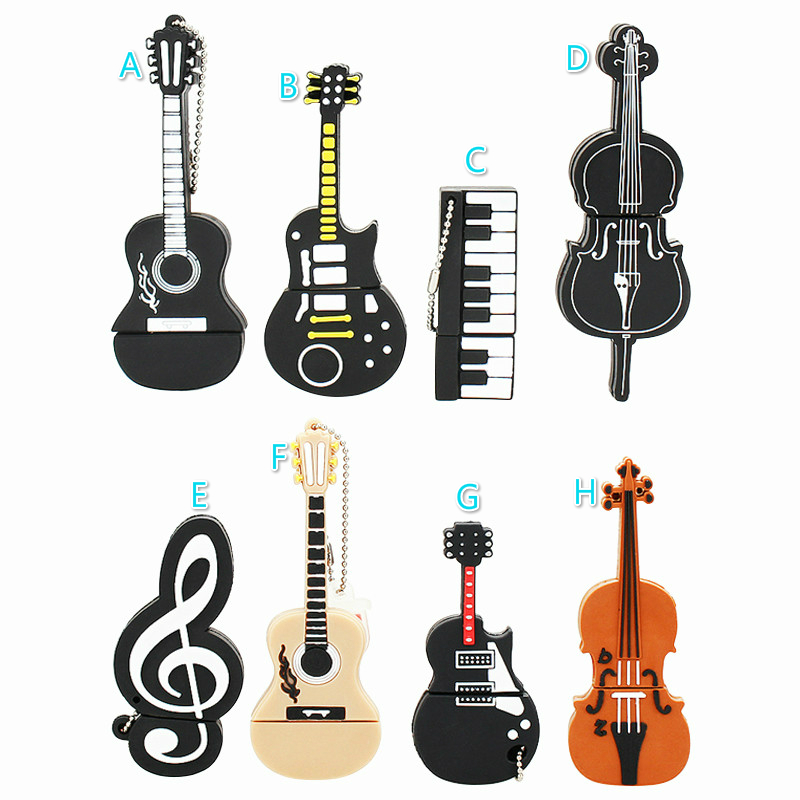 Image 2 - Musical Instruments USB Flash Drive 32gb Piano/Guitar/Microphone Pen Drive 64gb 128gb 16gb 4gb 8gb Usb Disk High Speed Pendrive-in USB Flash Drives from Computer & Office