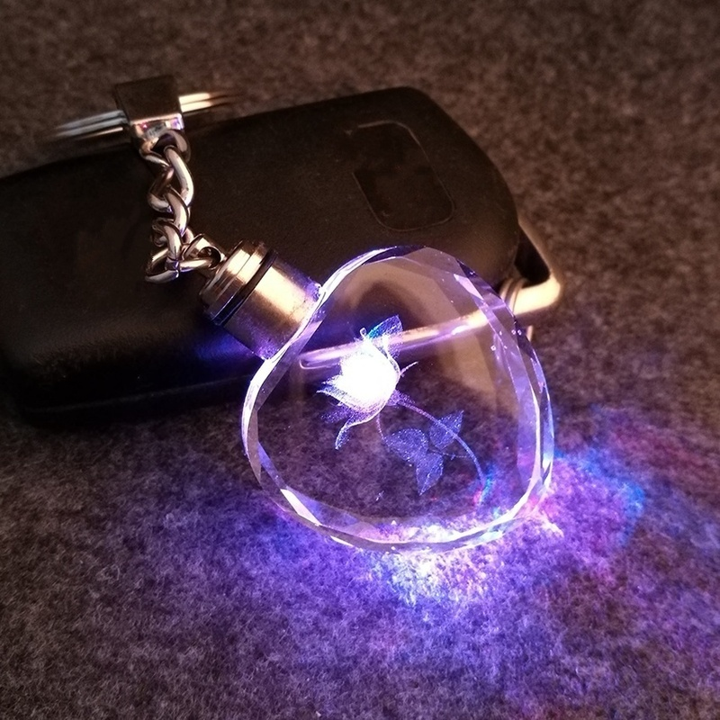 MD Crystal Key Flashlight Chains Key Rings Holder Fantastic Beasts Tritium (Color: Multicolor)