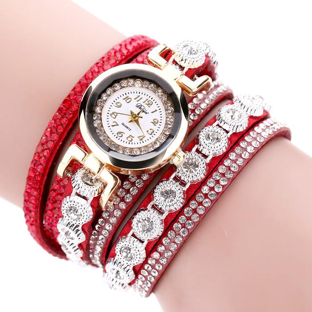 Watch & Bracelet with Rhinestone