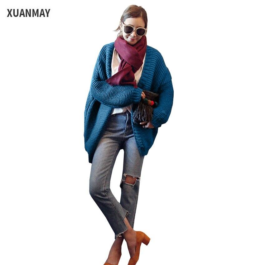 Caliente caliente gruesa de lana dama abrigo Chaqueta de punto señoras de La Man