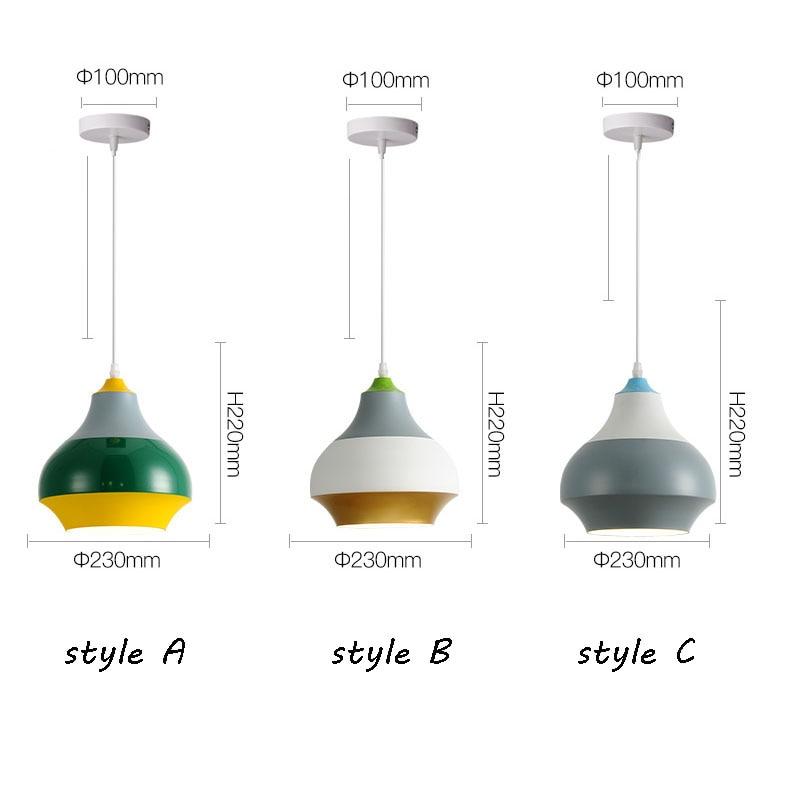 Modern Nordic Pendant Light Indoor Hanging Drop Light Contemporary Suspension Pendant Lamp Restaurant Dining Pendant Light (15)