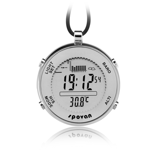 Spovan SPV600 Pocket Size Mini Waterproof Swit Sensor Digital Track Fishing Barometer Altimeter Thermometer Multifunction Watch