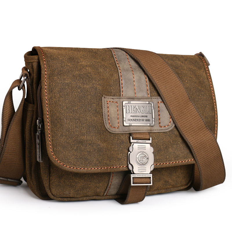 NEW Retro Canvas bag men s shoulder bags leisure wear resistant cross messenger bag Unisex casual