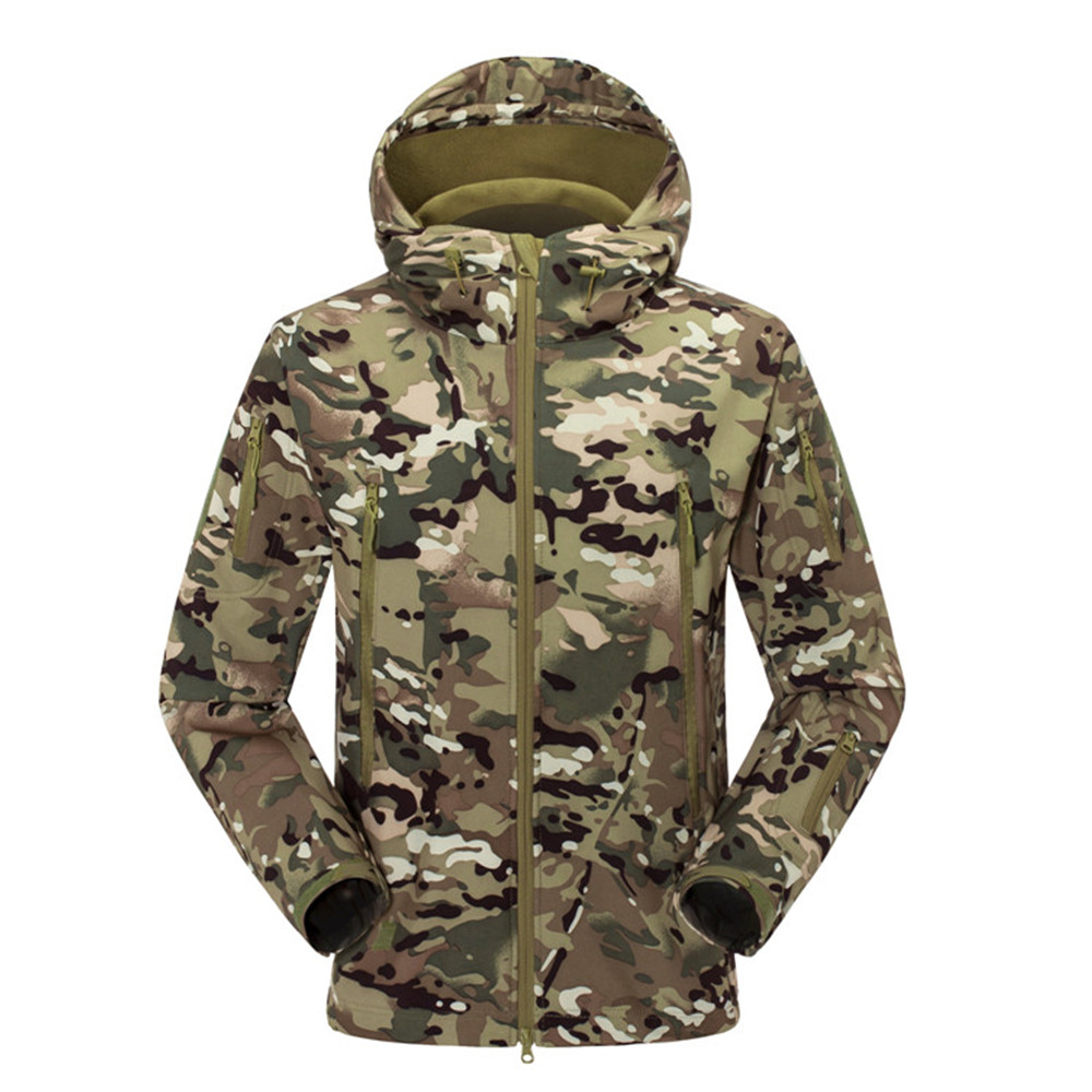 Men Women Outdoor Jacket Camouflage Soft Shell Clothing Military Tactical Jacket Camping Hiking Jackets Camo Sport Coats hunting jackets waterproof camouflage hoodie men s army military outdoor soft shell tactical jacket military camo army clothing