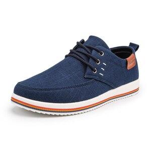 Image 2 - Классические Zapatillas; Новое поступление; сезон весна лето; удобная повседневная обувь; Мужская парусиновая обувь для мужчин; дышащая обувь на плоской подошве со шнуровкой