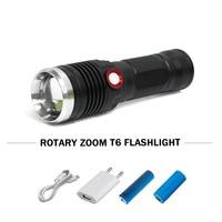 Leistungsstarke USB aufladbare taschenlampe 26650 batterie wasserdichte zoomable led taschenlampe lanterna CREE XML T6/L2 4 flash lichter
