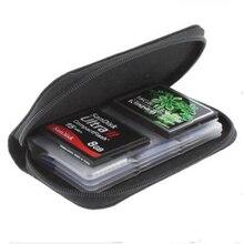 SD SDHC MMC CF مايكرو SD بطاقة الذاكرة تخزين حمل الحقيبة حافظة محفظة بحامل بطاقات