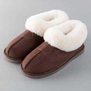 Image 3 - PIETRA VILLAGGIO Nuove pantofole di cotone donne di spessore inverno più velluto scarpe di cotone di inverno delle donne calde pantofole di peluche