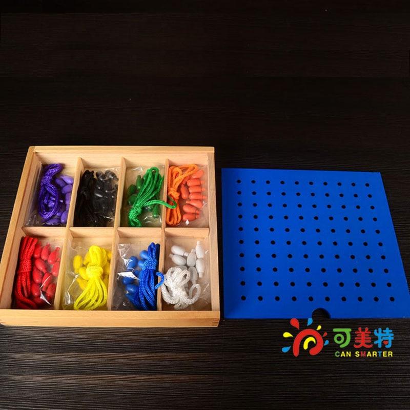 Froebel Education Gabe J2 Colourful Blocks  Threading Toys  Eye-hand Coordination  Early educational toys Can Smarter lego education 9689 простые механизмы