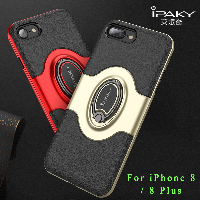 Ipaky Coque For Iphone 8 Case Cover Silicone Ring Holder Case For