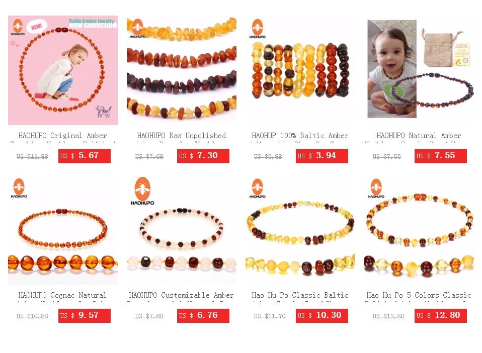 HTB1UDA8TBLoK1RjSZFu760n0XXau HAOHUPO Raw Unpolished Amber Bracelet/Necklace Baltic Natural Amber Beads Baby Jewelry for Boy Girls Infant Teething Child Gifts
