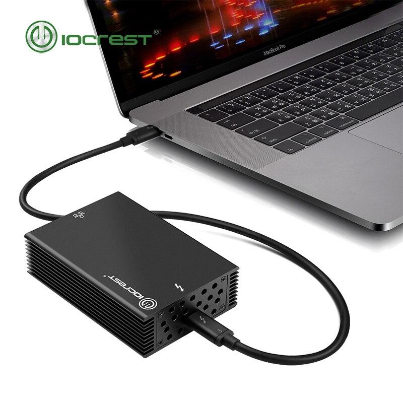 IOCREST certifié 10 gigabit USB3.1 type-c thunderbolt 3 adaptateur réseau lan câblé nic chipset intel compatible Mac OS