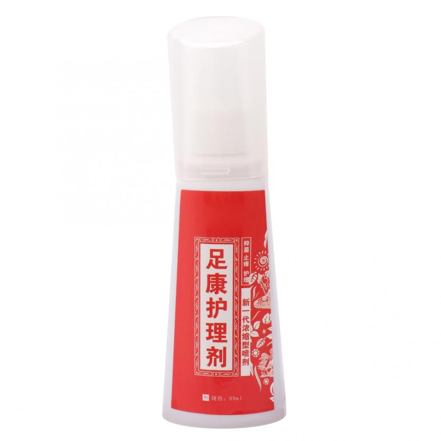 80ML Foot Deodorant Spray Foot Odor Sweat Removal Anti-Fungal Itch Relieving Foot Care Spray Perfume Adults