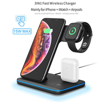 3 in 1 Charging Dock Station Bracket Cradle Holder Qi Wireless Charger For iPhone XS Max XR X 8 For AirPods Apple Watch 4 3 2 1