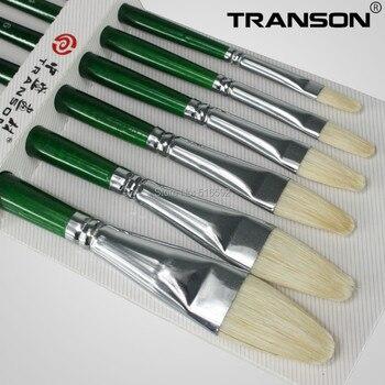 6 Adettakım Transon305 Fındık Baş Kıl Saç Boyama Fırçası Guaj