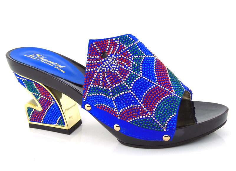 ФОТО Elegant pumps lady's shoes African pu leather sandals for party !!HDD1-29