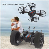 LiDiRC L18 RC Drone DIY Land & Sky 2 In 1 High Hold Mode Balance Car with 3D Flips RC Quadcopter Flying Car RTF