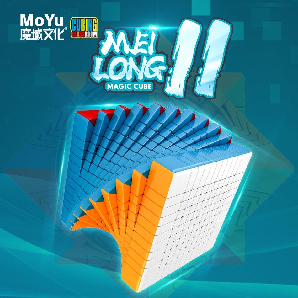 Livraison gratuite Moyu meilong 11x11x11 couches vitesse magique cube MoYu 11x11x11 sans autocollant cube puzzle enfants adulte jouet éducatif