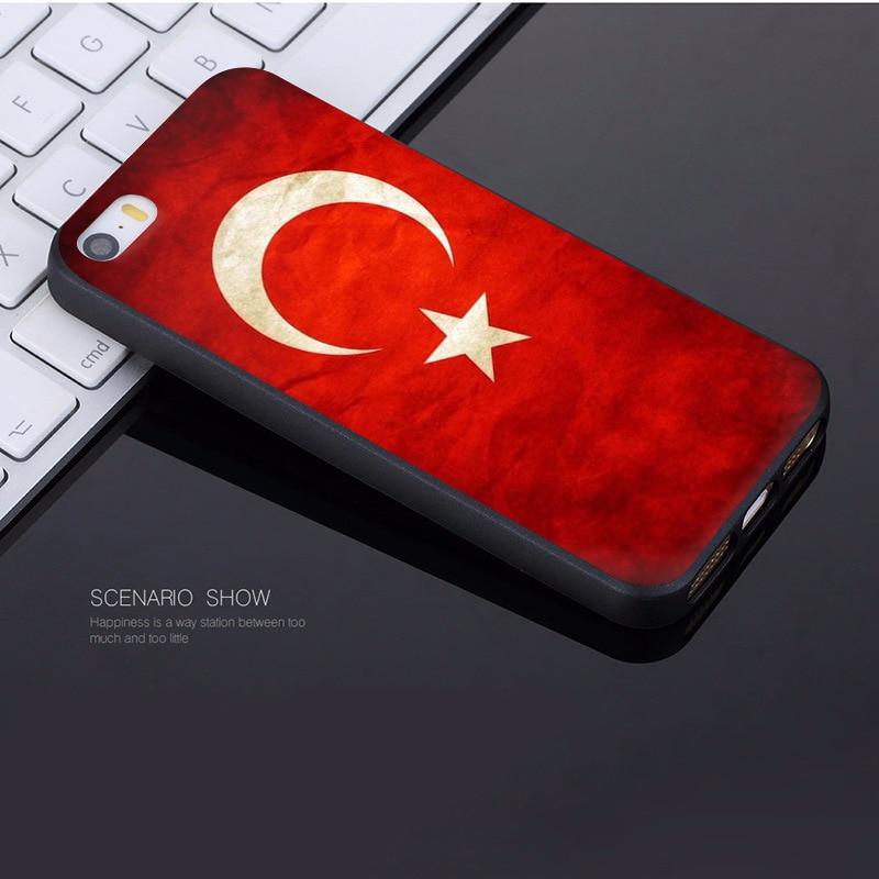 MaiYaCa Flag of Turkey Istanbul Antalya mustafa Coque Shell Phone Case for Apple iPhone 8 7 6 6S Plus X 5 5S SE 5C Cover