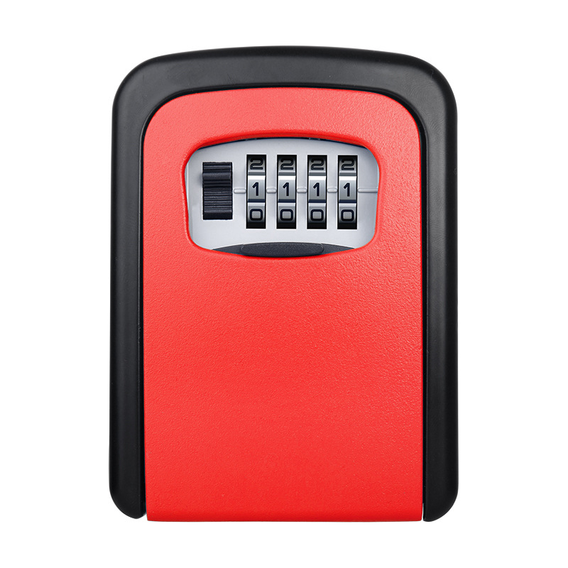 Key Safe Box Wall Mount Combination Password Lock Aluminum Alloy Material Keys Storage Box Multi Color Small Security Safes