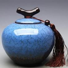 ceramic Sugar Bowl Binglie storage containers storage tank candy color home tea accessories tea canister Castor diameter 9.5cm