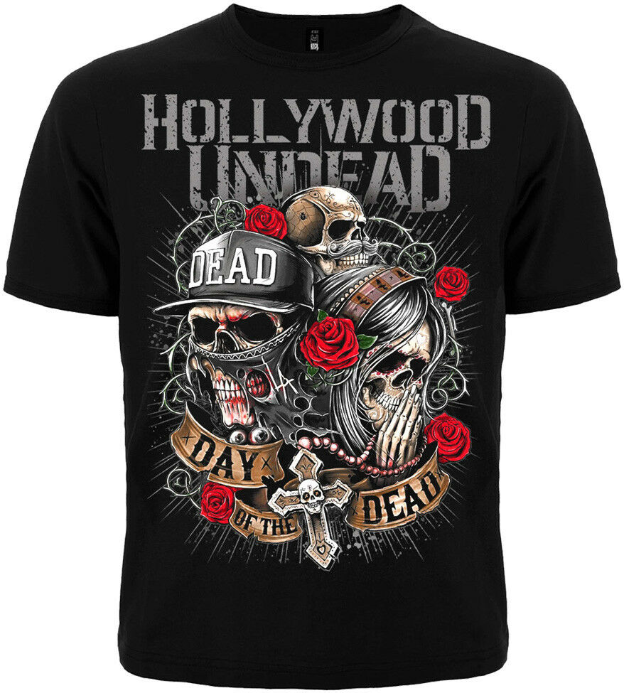 Men 39 s T shirt with Short Sleeves Music Band HOLLYWOOD UNDEAD Novelty Cool Tops Men Short Sleeve T Shirt 2018 Fashion in T Shirts from Men 39 s Clothing