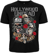 Men's  T-shirt with Short Sleeves Music Band HOLLYWOOD UNDEAD Novelty Cool Tops Men Short Sleeve T Shirt 2018 Fashion making music in selznick s hollywood